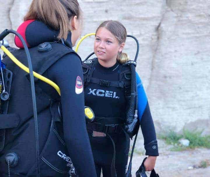 Kids scuba diving course Amadores beach