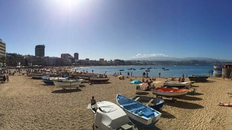 Las canteras beach Gran Canaria Las Palmas