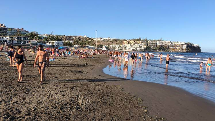 San Agustín beach gran canaria