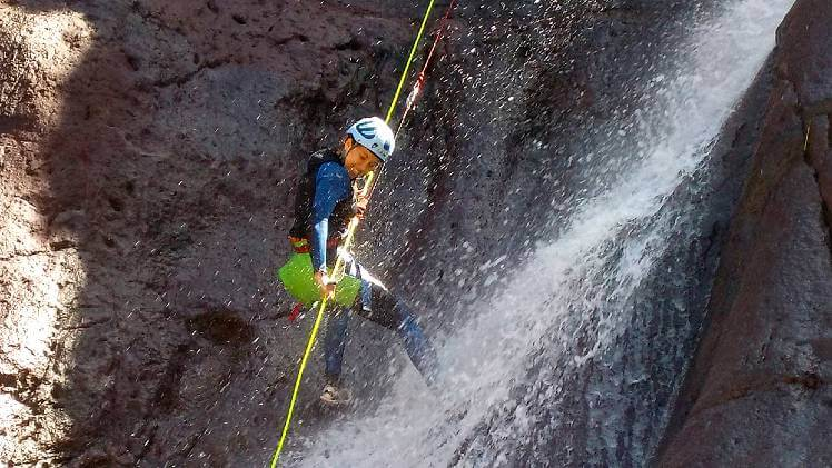 Gran Canaria Canyoning and rappelling