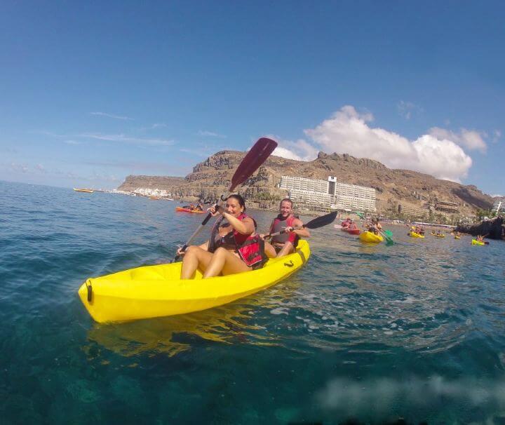 alquilar kayak playa taurito